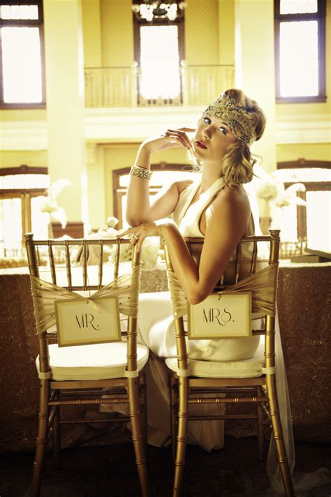 Great Gatsby Wedding Inspiration All That Glitters Is