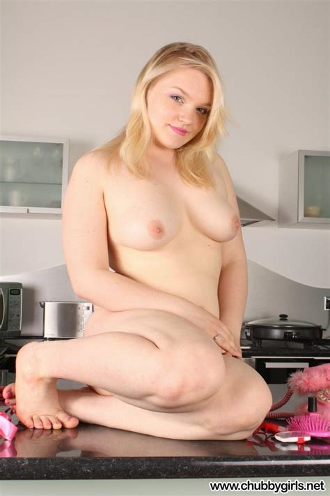Curvy Blonde Teen Jasmin Gets Naked On The Kitchen Counter