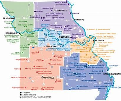 Map State Kansas Missouri Parks States Border