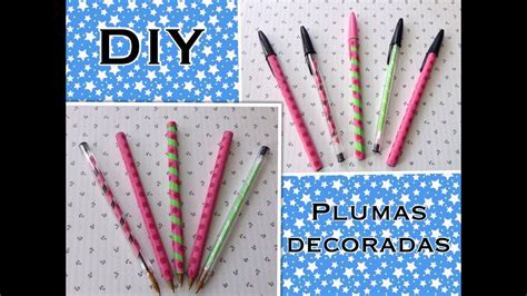 lapiceros o plumas decoradas con washi youtube