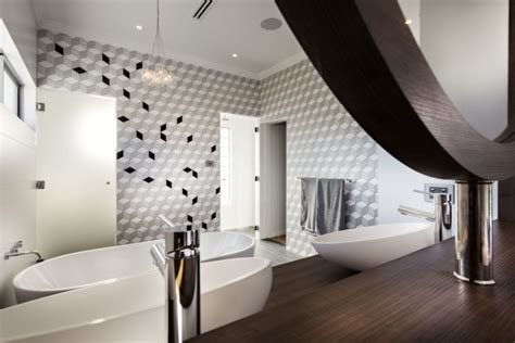 Modern Bathroom Tiles Perth by Luxurious Empire House Embraces Modernist Style With A