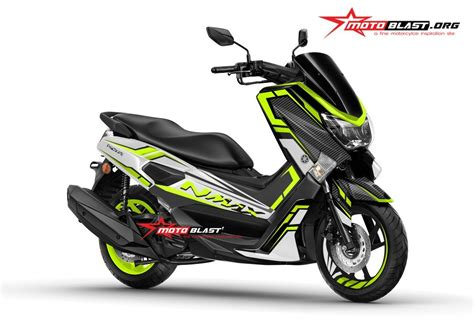 Modifikasi Yamaha Nmax by Modifikasi Yamaha Nmax Black White Carbon