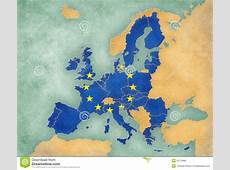 Map Of Europe European Union 2013 summer Style Stock