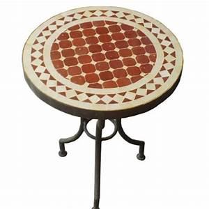 Table Fer Forgé Jardin : table de jardin marocaine en zellige brun rouge de marrakech maroc ~ Teatrodelosmanantiales.com Idées de Décoration