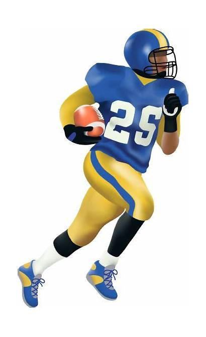 Football Clip Player Clipart Running Huskers Played
