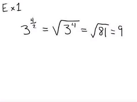 converting exponent form  radical form youtube