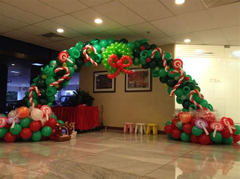 christmas balloon arch pictures   images