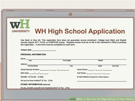 Sle Applications For High School Students by 3 Ways To Get Into The High School Of Your Choice Wikihow