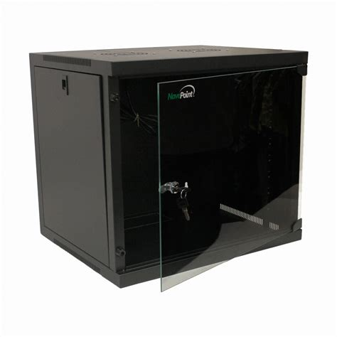 glass door server cabinet 9u basic it wall mount network server data cabinet rack