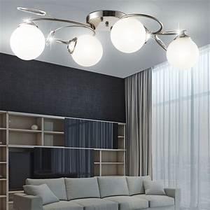 Wohnzimmer Lampe Deckenbeleuchtung Chrom Glas