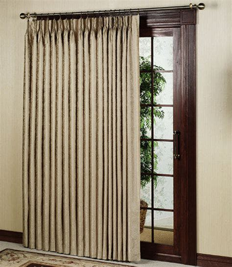 Thermal Patio Door Curtains by Curtain Amp Bath Outlet Gabrielle Thermal Insulated Pinch