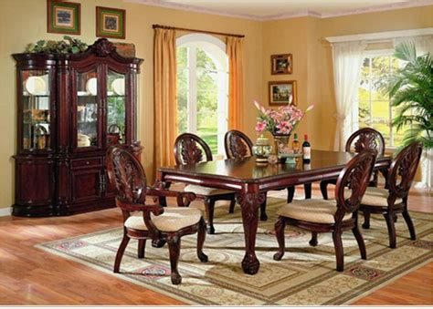 comedores de madera comedor formal de madera 7 piezas por coaster 7piece