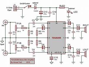 Tea2025b Stereo Amplifier Circuits