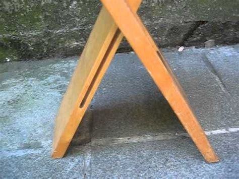 chaise de bar pliante chaise pliante plate en bois avi