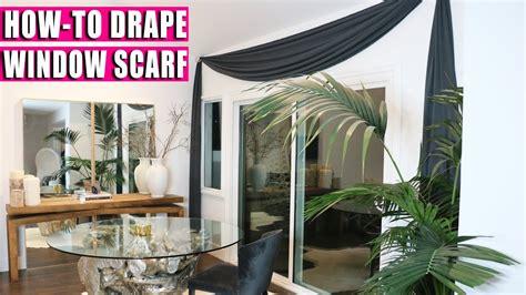 How To Drape Window Scarves - how to drape window scarf