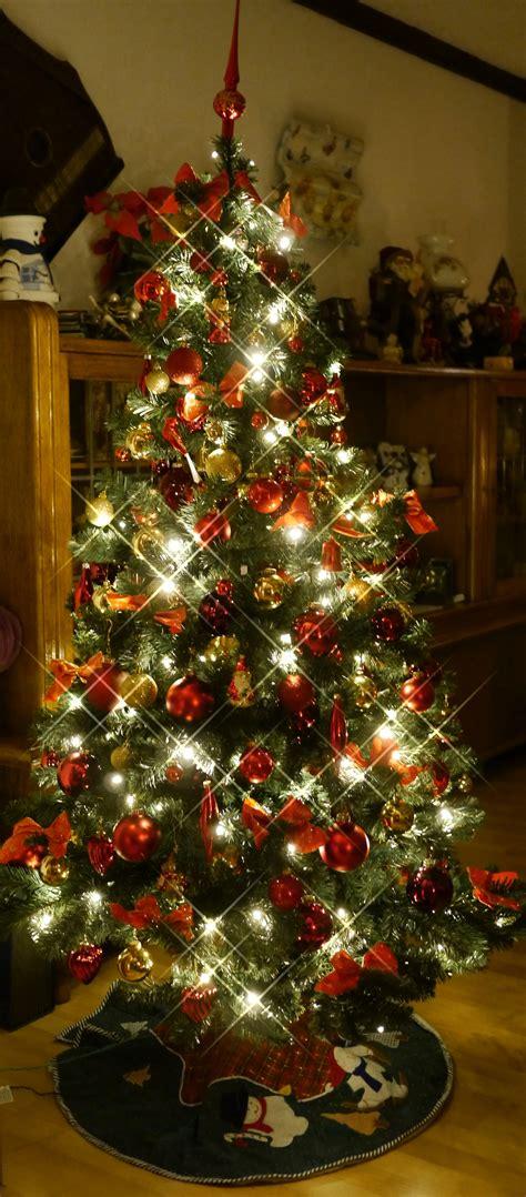 weihnachtsbaum rot gold 187 was ich sehe mit allen sinnen