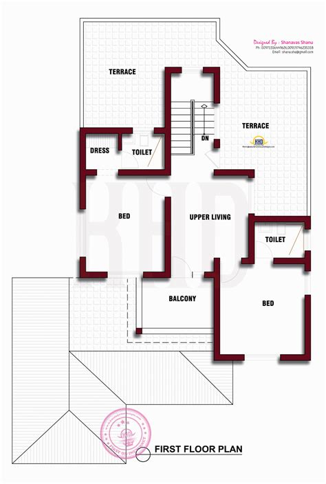 Beautiful Kerala house photo with floor plan