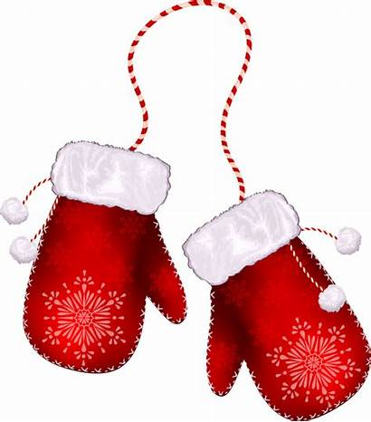 Santa Glove Gloves Clipart Vector Outline Mickey