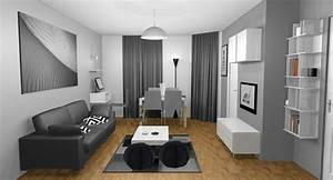 deco peinture salon gris sur idee 2017 avec idee peinture With deco cuisine avec meuble salle a manger blanc et gris