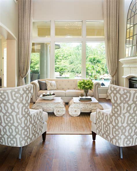 Living Room Amanda Carol Interiors White base colors can
