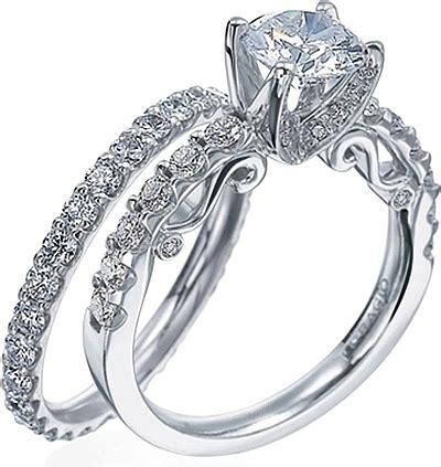 verragio detailed engagement ring with round brilliant