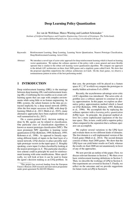 (PDF) Deep Learning Policy Quantization