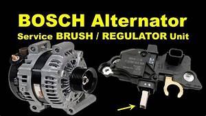 Bosch Alternator Regulator Replacement  U0026 Alternator Brush