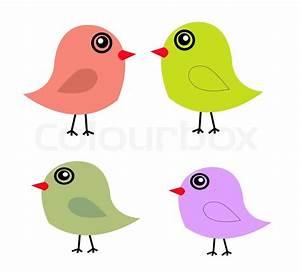 Cute birds in vector. Cartoon   Stock Vector   Colourbox