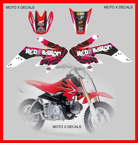 5.0 out of 5 stars based on 4 product ratings(4). Honda CRF 50 Red Baron Full Decal Graphics Kit   MX Decals