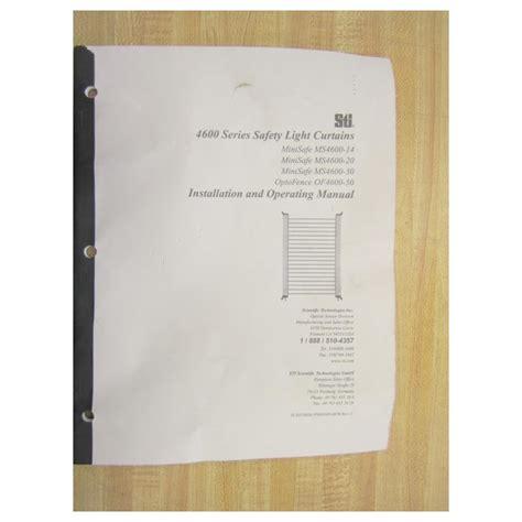 sti light curtain distributors sti minisafe 4600 series light curtain manual curtain