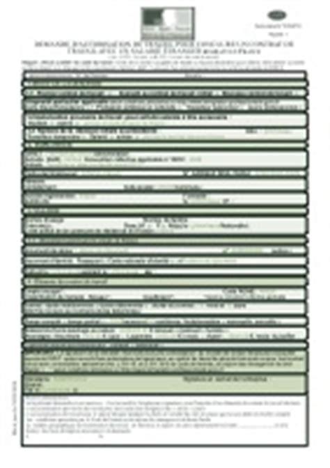autorisation de si鑒e social demande d 39 autorisation de travail pour conclure un contrat de travail avec un salarié étranger non européen résidant en cerfa n