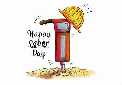 Labor Watercolor Demolition Hammer Vector Clipart