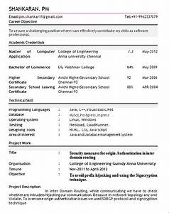 10 fresher resume templates download pdf With cv format for freshers