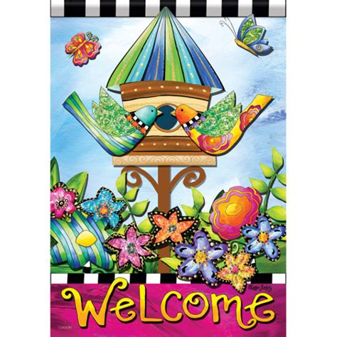 decorative house and garden flags