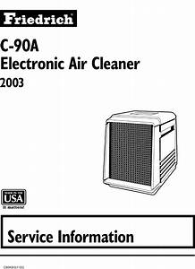 Friedrich Electronic Air Cleaner C 90a Users Manual