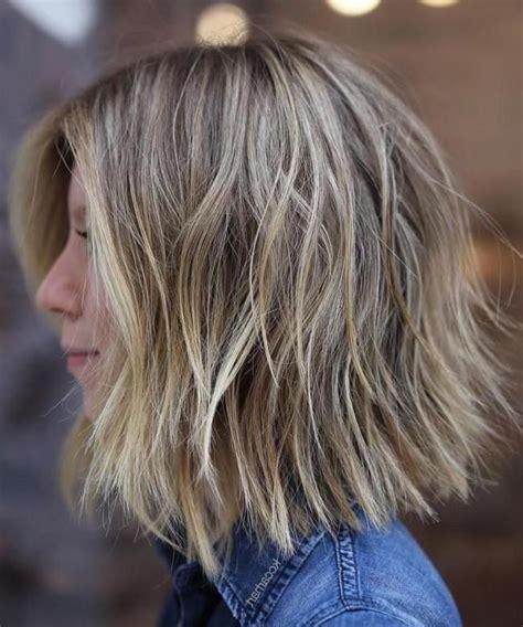 short choppy layered haircuts messy bob hairstyles