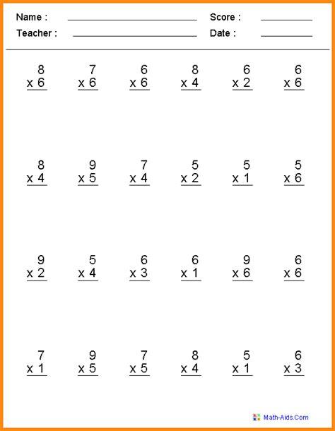 Fourth Grade Math Worksheet Homeshealthinfo