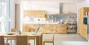 Meuble Cuisine Bois Naturel : cuisine meuble bois modele cuisine en i cbel cuisines ~ Teatrodelosmanantiales.com Idées de Décoration