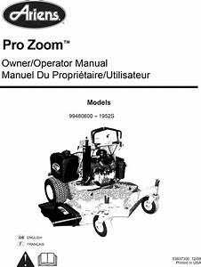Ariens 99480600  101 999999  User Manual Zero Turn Mower
