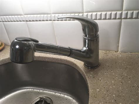 Faucet Leaking At Base by How To Approach Fixing This Kitchen Sink Faucet Leak At