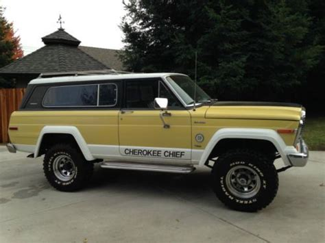 jeep chief 1979 buy used 1979 jeep cherokee chief 2 door 4x4 2nd owner low