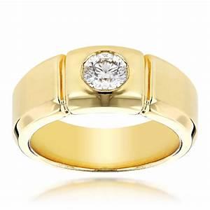 14k gold designer mens diamond wedding ring 05ct With mens wedding ring designers
