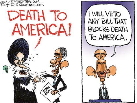 genius cartoon perfectly sums   obama loves iran