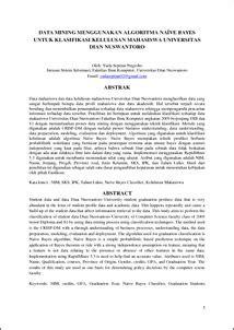 Data Mining Menggunakan Algoritma Naïve Bayes Untuk