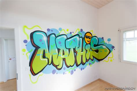 graff chambre chambre déco graffiti prénom en graff et trompe l 39 oeil