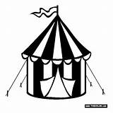 Coloring Tent Circus Clothes sketch template