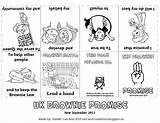 Brownie Promise Girlguiding Brownies Law Toadstool Mini Guides Owl Books Activities Scout Guide Scouts Meeting Sept Craft Printable Colouring Rainbow sketch template