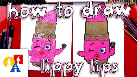 draw lippy lips shopkins youtube