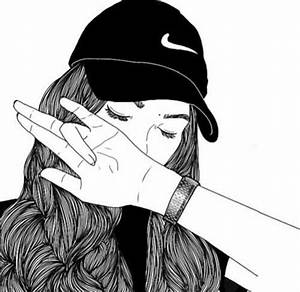 Fille Noir Et Blanc : noir et blanc dessin mode fille grunge image ~ Melissatoandfro.com Idées de Décoration