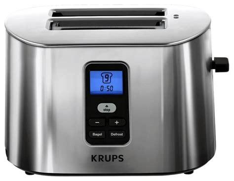 krups 2 slice toaster krups tt6190 intuitive 2 slice digital toaster modern